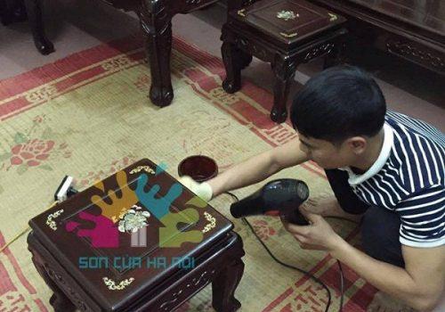 Nhận đánh vecni bàn ghế tại Hà Nội
