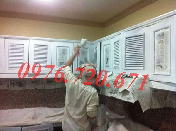 Sơn PU tủ bếp giá rẻ tại Hà Nội