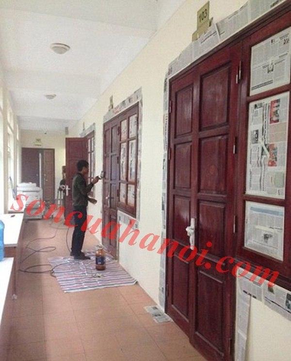Thợ sơn cửa gỗ tại Ba Đình chuyên nghiệp số 1 tại Hà Nội