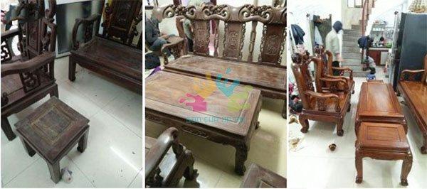 Thợ đánh vecni bàn ghế gỗ tại Hà Nội