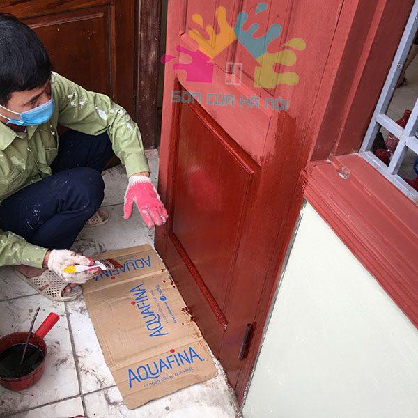 Sơn cửa gỗ tại quận Thanh Xuân, Hà Nội