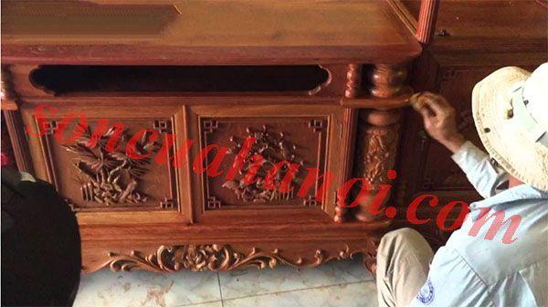 Thợ sơn đồ gỗ tại nhà Hà Nội uy tín chuyên nghiệp, giá cực rẻ