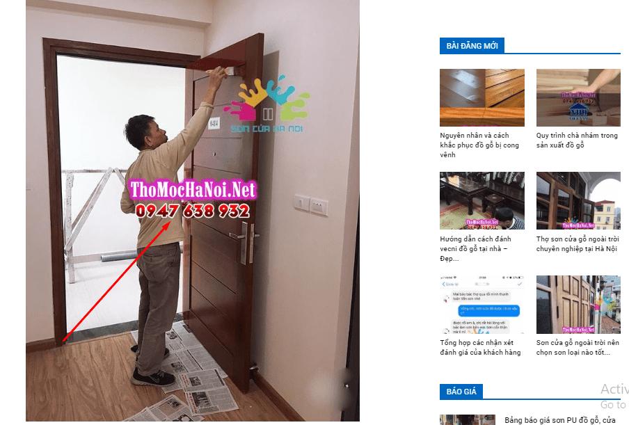 Cảnh báo ăn cắp hình ảnh, nội dung trang website của Sơn Cửa Hà Nội