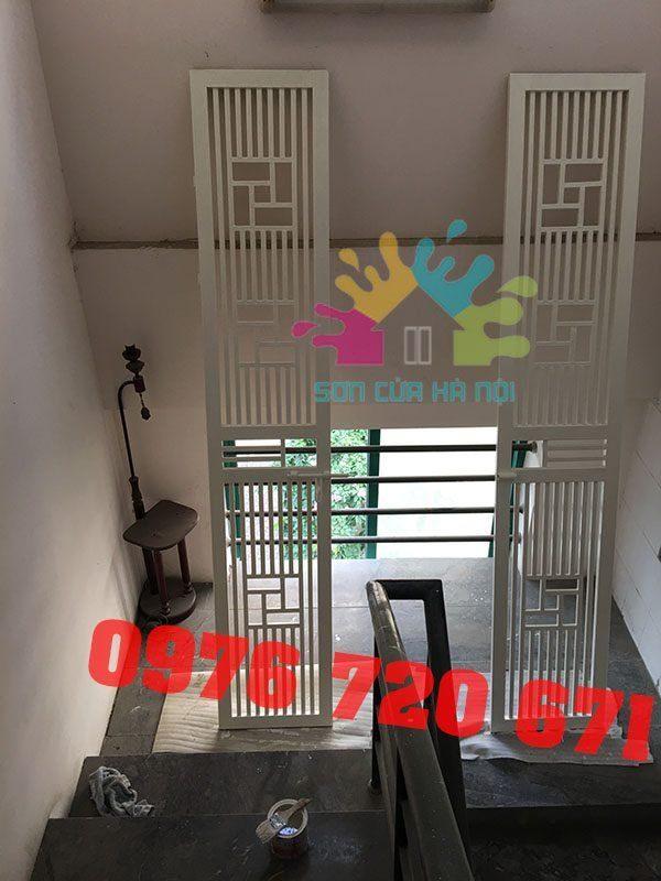 Thợ sơn cửa sắt giá rẻ tại chung cư ở Hà Nội