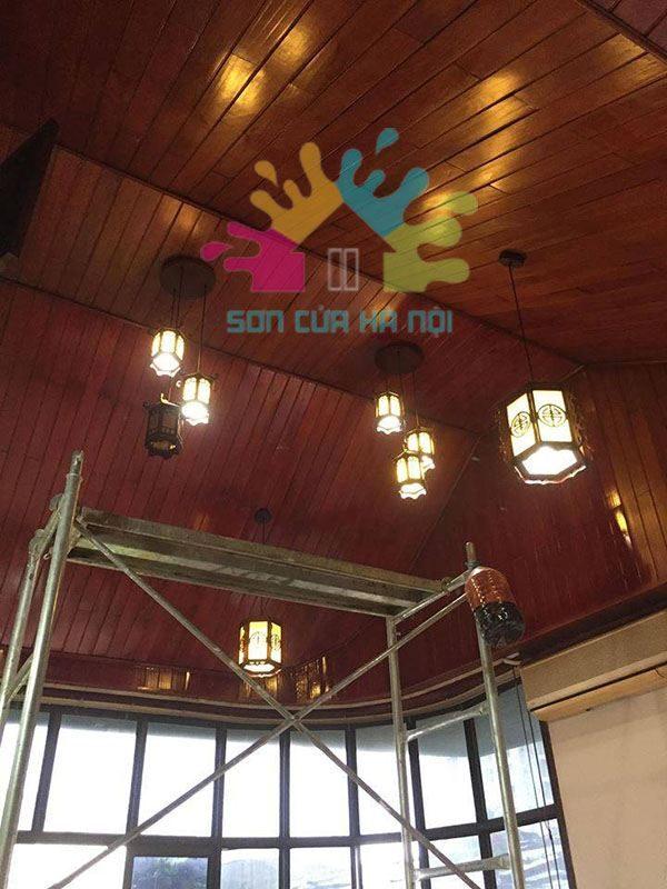 Thợ sơn PU trần gỗ chuyên nghiệp số 1 tại Hà Nội
