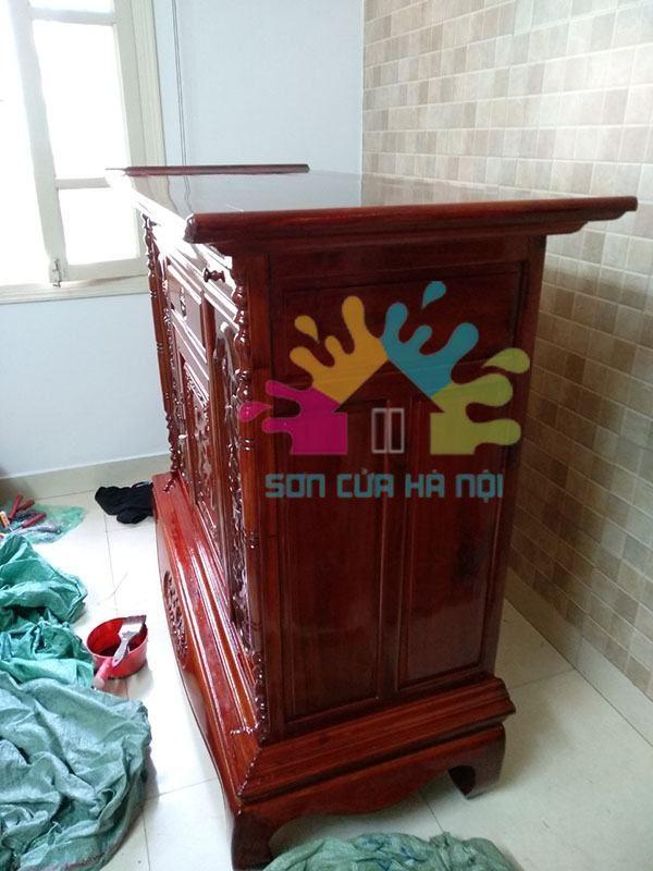 Đánh vecni tủ gỗ, tủ thờ giá rẻ
