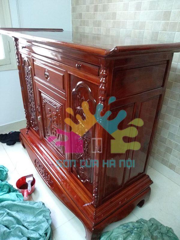Đánh vecni tủ gỗ, tủ thờ giá rẻ tại Hà Nội