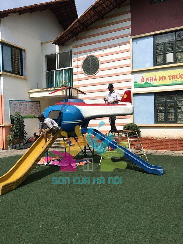 Công trình sơn lại khu vui chơi tại trường Mầm Non Hoa Ban