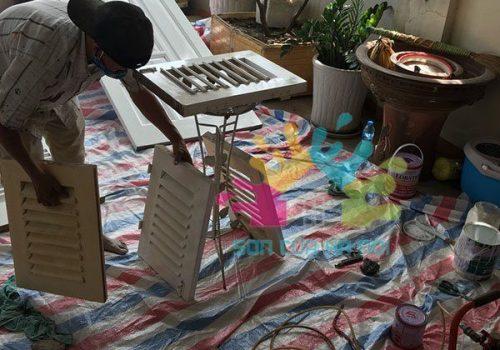Thợ sơn PU cửa sổ gỗ giá rẻ tại Hà Nội