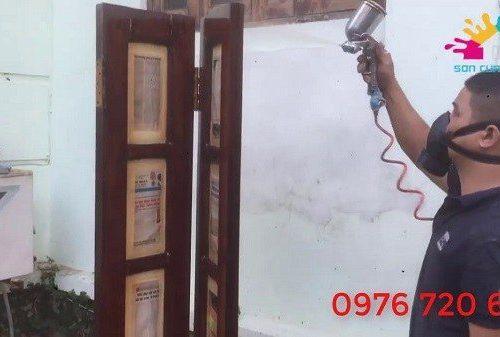 Thợ sơn PU - Dịch vụ sơn PU nội thất đồ gỗ tại nhà giá siêu rẻ