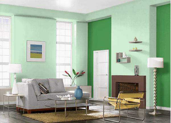 sơn nhà đẹp cho người mệnh mộc