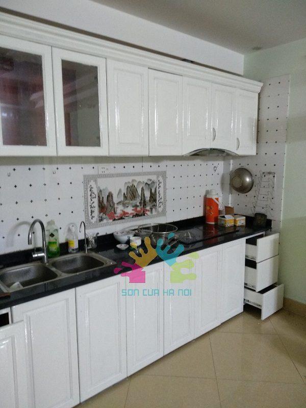 Sơn tủ bếp giá rẻ tại Hà Nội