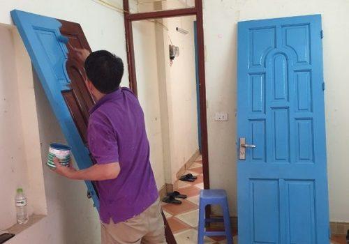 Thợ sơn cửa cửa gỗ giá rẻ tại Nguyễn Phúc Lai, Ô Chợ Dừa, Đống Đa, Hà Nội